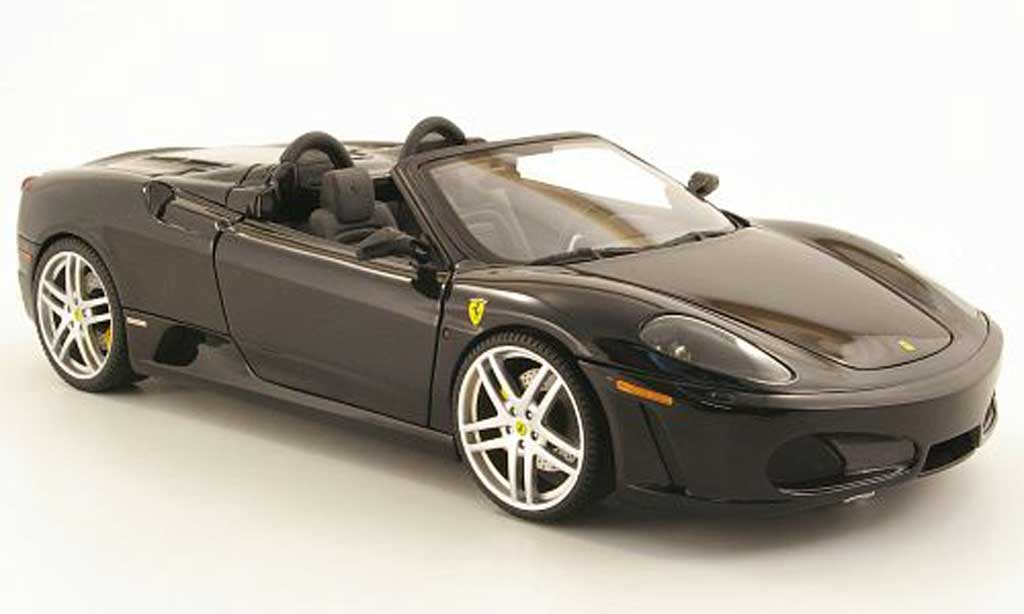 Ferrari F430 spider 1/18 Hot Wheels schwarz seal modellautos
