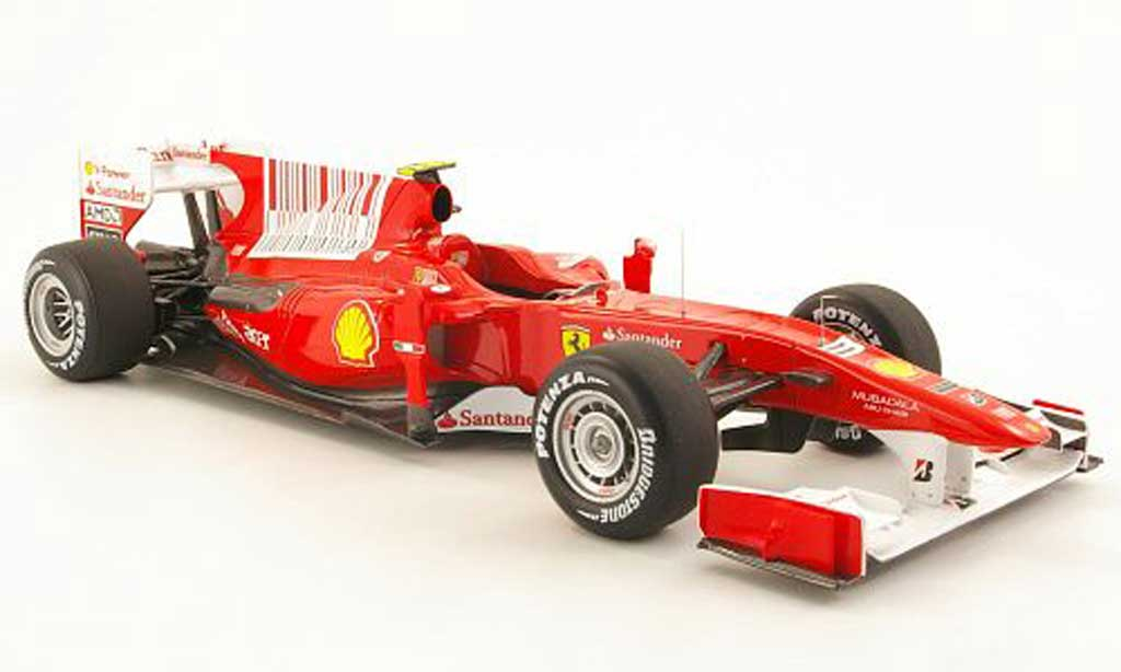 Ferrari F1 2010 1/18 Hot Wheels f2010 no.8 f.alonso gp bahrain miniature