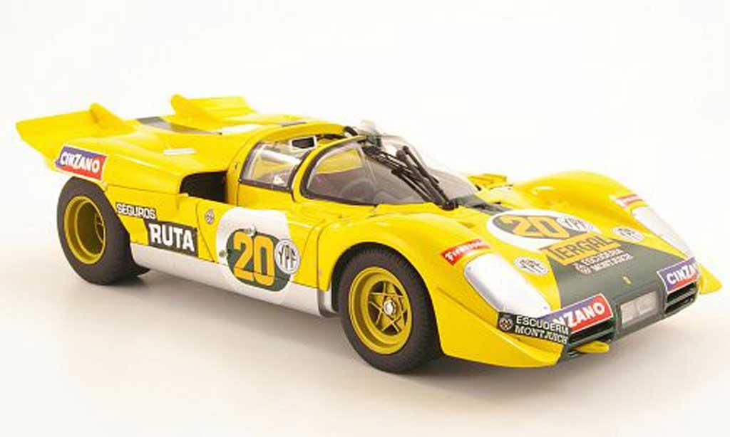 Ferrari 512 S 1/18 Hot Wheels no.20 escuderia montjuich 1000km buenos aires 1971 juncadella / pairetti miniature