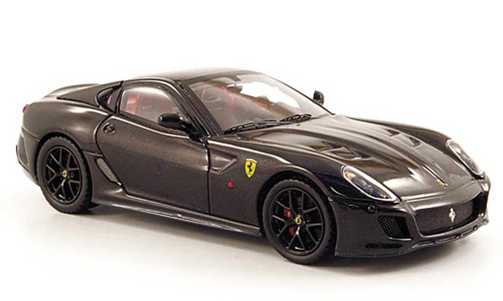 Ferrari 599 GTO 1/43 Hot Wheels Elite noire (Elite) miniature