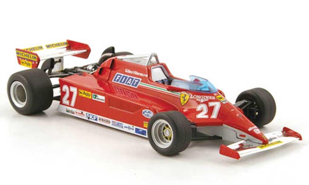 Ferrari 126 1981 1/43 Hot Wheels Elite CK No.27 G.Villeneuve GP Monaco (Elite) miniature