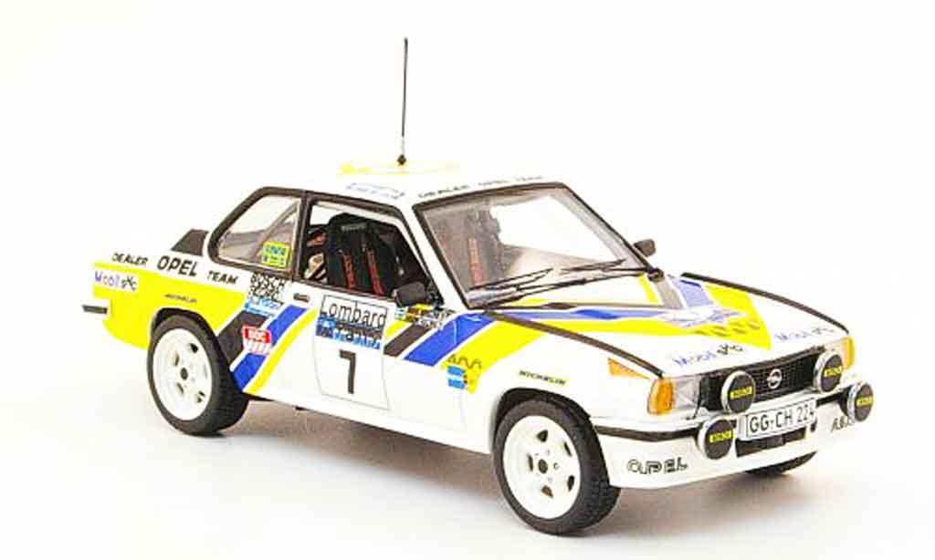 Opel Ascona B 1/43 Schuco 400 no.7 rac rallye 1980 miniature