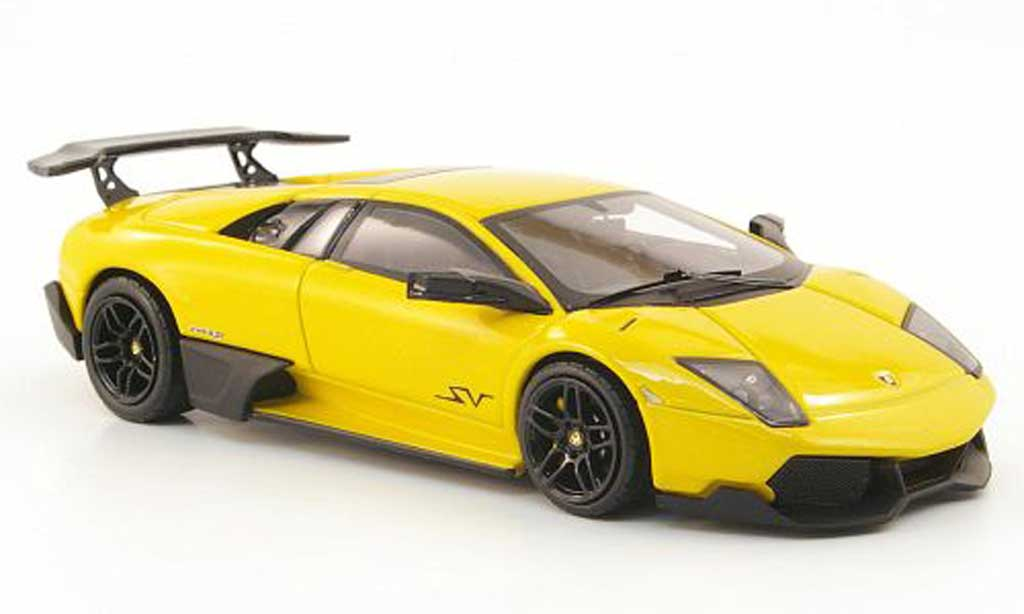 Lamborghini Murcielago LP670 1/43 Hot Wheels Elite SV jaune (Elite) miniature