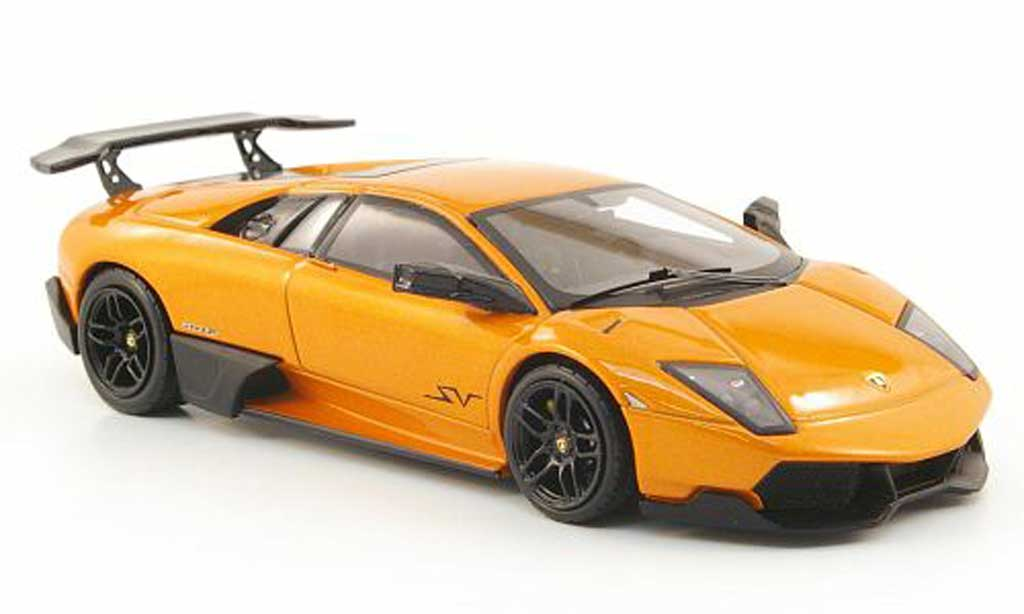 Lamborghini Murcielago LP670 1/43 Hot Wheels Elite SV orange (Elite) miniature