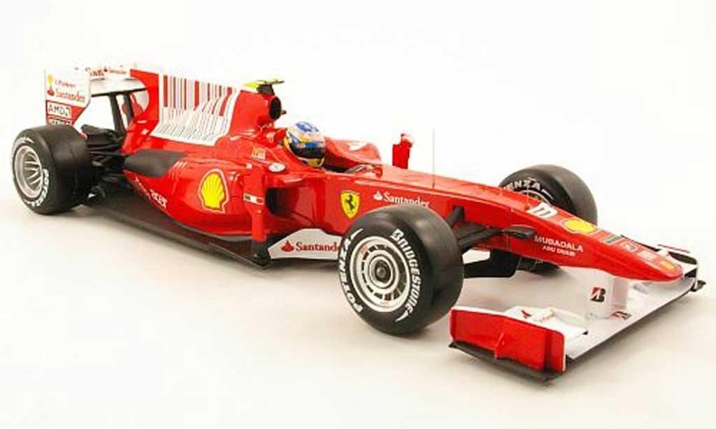 Ferrari F1 F2010 1/18 Hot Wheels f10 no.8 santander gp bahrain 2010 miniature