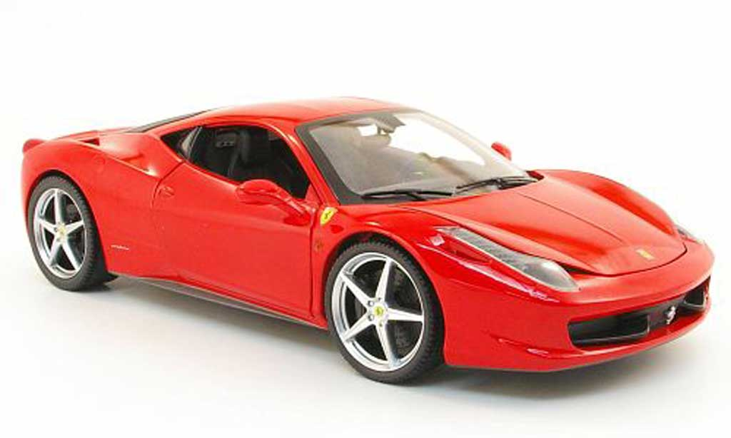 Ferrari 458 Italia 1/18 Hot Wheels Italia rouge 2010 miniature
