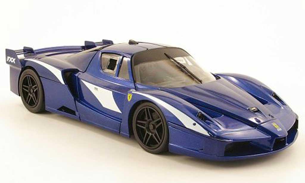 Ferrari Enzo FXX 1/18 Hot Wheels evoluzione bleu miniature