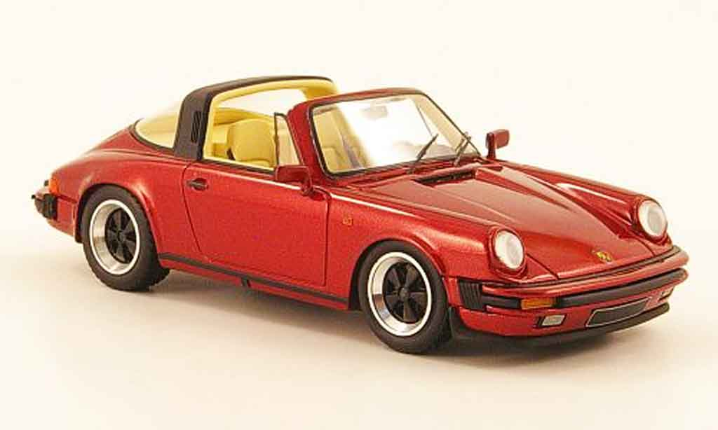 Porsche 911 Targa 1/43 Look Smart Carrera 3.2 rouge miniature