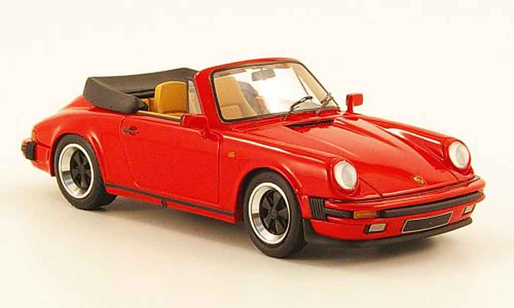 Porsche 911 1/43 Look Smart Carrera 3.2 Cabriolet rouge offen