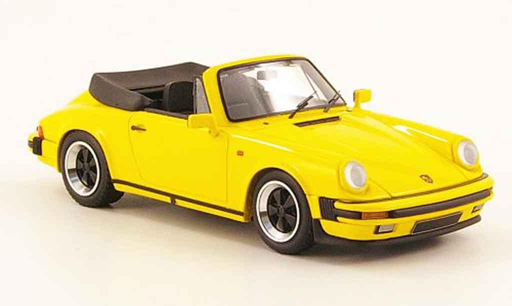 Porsche 911 1/43 Look Smart Carrera 3.2 Cabriolet yellow offen diecast