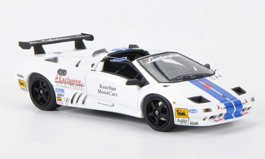 Lamborghini Diablo VT 1/43 Look Smart white/bleu diecast model cars