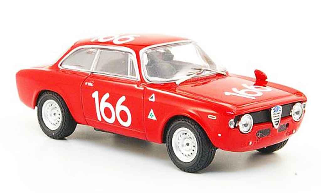 Alfa Romeo Giulia 1600 GTA 1/43 M4 no.166 targa florio 1965 miniature
