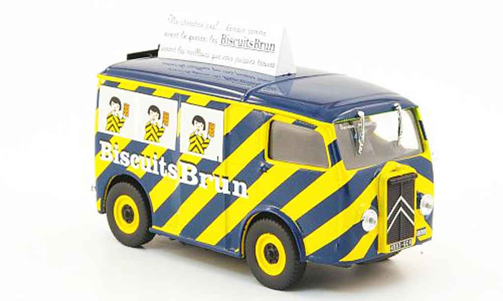 Citroen TUB 1/43 IXO biscuits brun miniature