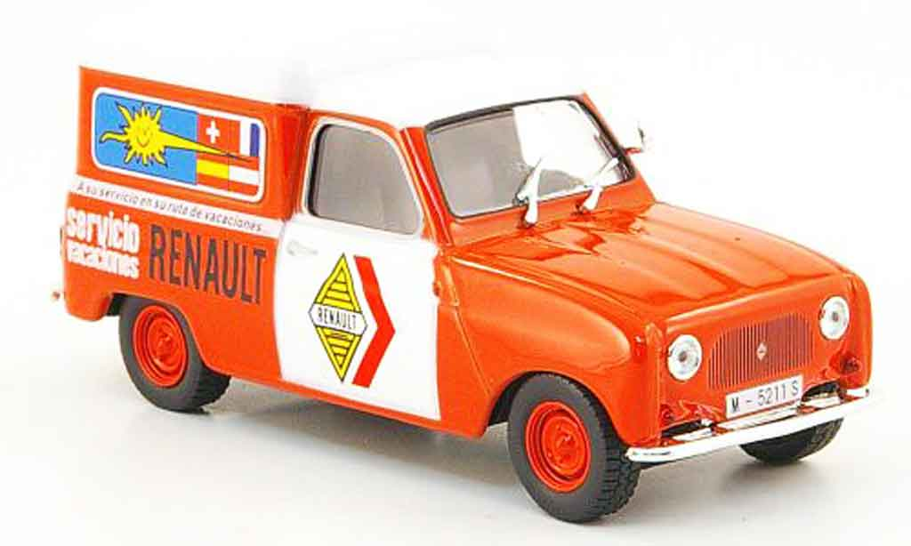 Renault 4 F4 1/43 IXO F f service spanien miniature