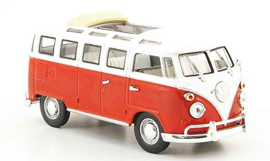 Volkswagen Combi 1/43 Yat Ming t1 samba rouge blanche 1962 miniature
