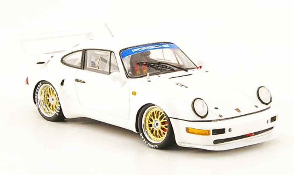 Porsche 964 Turbo 1/43 Spark Turbo S blanche 1993 miniature