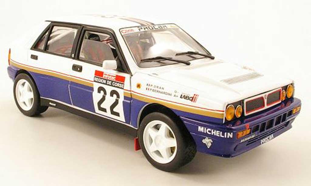 Lancia Delta HF Integrale 1/18 Sun Star no.22 rougehmans tour de corse 1990 p.bernardini / p.dran miniature