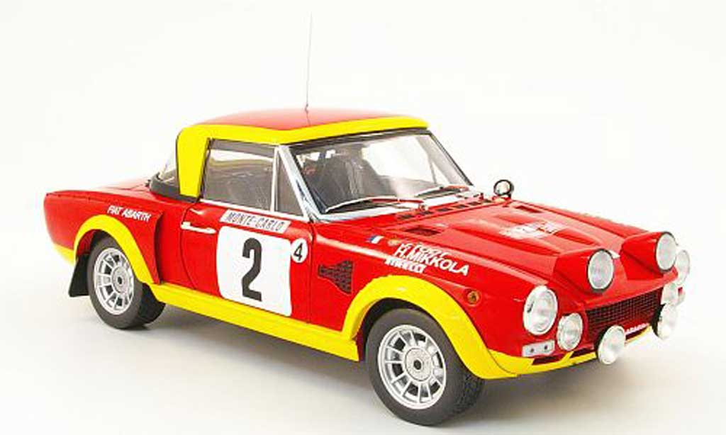 Fiat 124 Abarth 1/18 Sun Star Abarth no.2 rallye monte carlo 1975 miniature