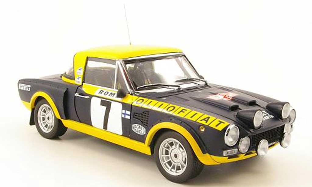 Fiat 124 Abarth 1/18 Sun Star Abarth no.7 olio fiat rallye monte carlo 1976 diecast model cars