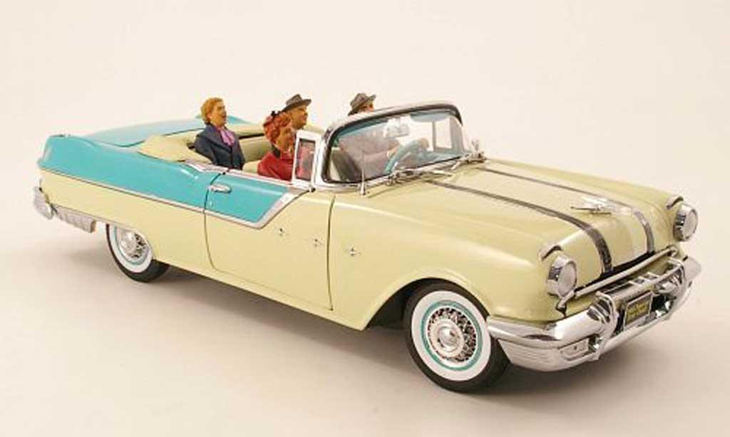 Pontiac Star Chief 1/18 Sun Star Convertible beige/mint 1955 miniature