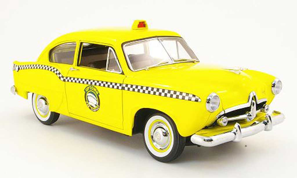 Kaiser Henry Taxi 1/18 Sun Star j uptown cab company jaune 1951 miniature