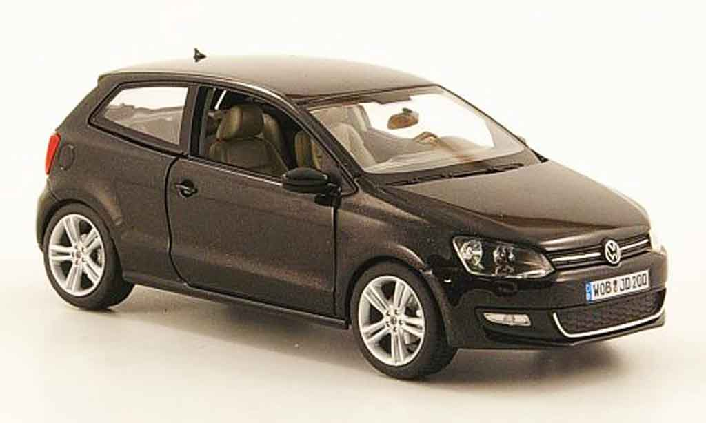 volkswagen polo 2009 miniature noire schuco 1 43 voiture. Black Bedroom Furniture Sets. Home Design Ideas