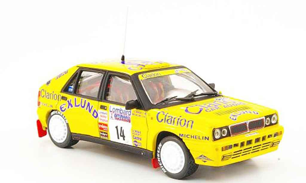 lancia delta hf integrale miniature 16v lombard rac rallye 1990 vitesse 1 43 voiture. Black Bedroom Furniture Sets. Home Design Ideas
