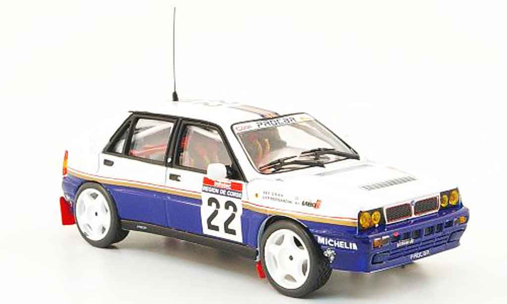 lancia delta hf integrale miniature tour de corse 1990 vitesse 1 43 voiture. Black Bedroom Furniture Sets. Home Design Ideas
