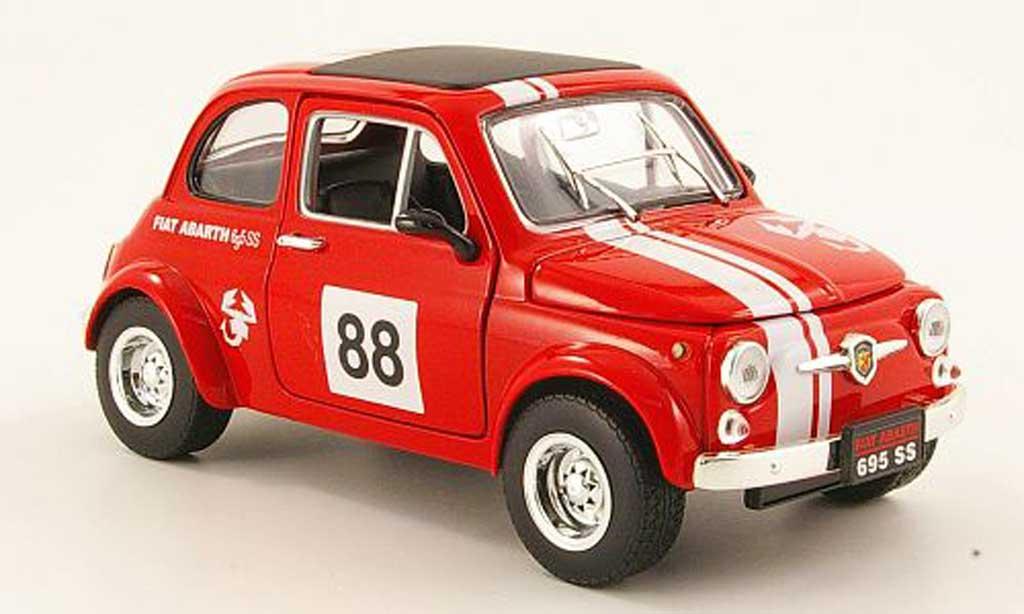 Fiat 500 Abarth 1/18 Mondo Motors 695ss rouge no.88 miniature