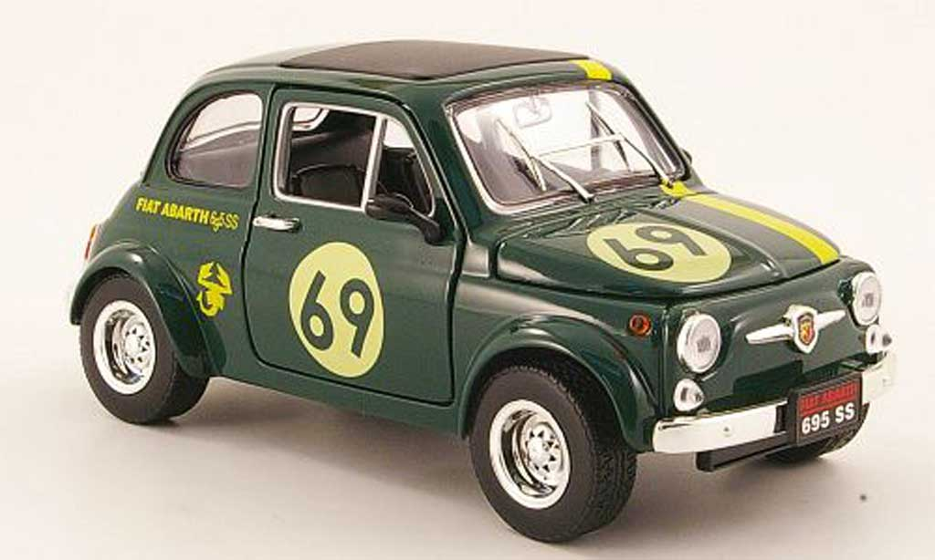 Fiat 500 Abarth 1/18 Mondo Motors 695ss grun no.69 miniature