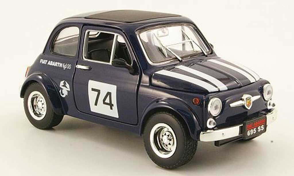 Fiat 500 Abarth 1/18 Mondo Motors 695ss bleu no.74