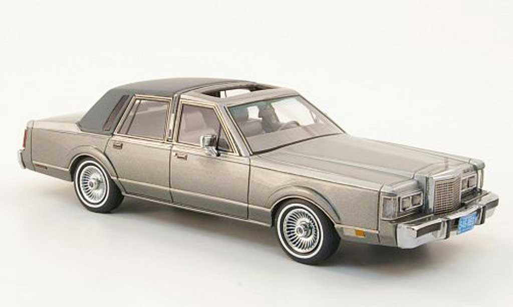 Lincoln Town Car 1986 1/43 Neo 1986 grise/grise 1986 miniature