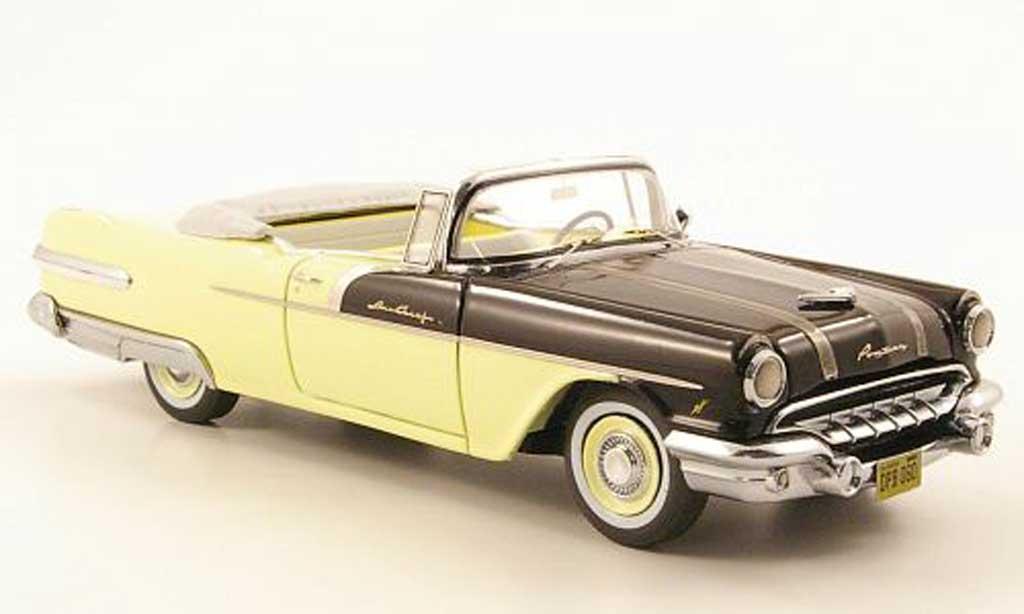 Pontiac Star Chief 1/43 Neo Convertible Jaune creme/noire 1956 miniature
