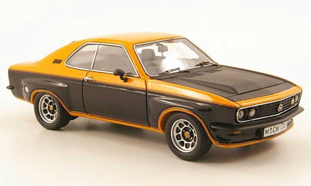 Opel Manta 2800 1/43 Neo 2800 TE orange/noire/mattnoire lim. Aufl. 300 1975 miniature