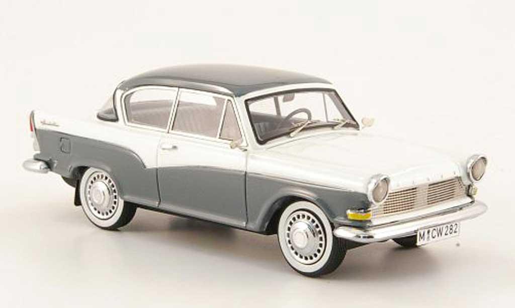 Lloyd Arabella 1/43 Neo grise/blanche miniature