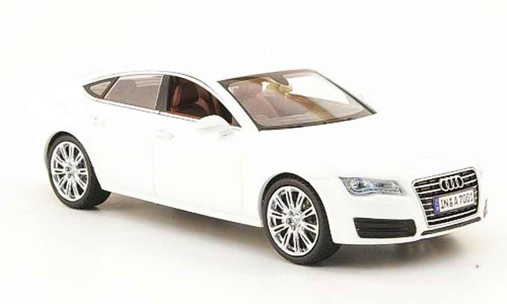 Audi A7 1/43 Kyosho Sportback blanche 2010 miniature