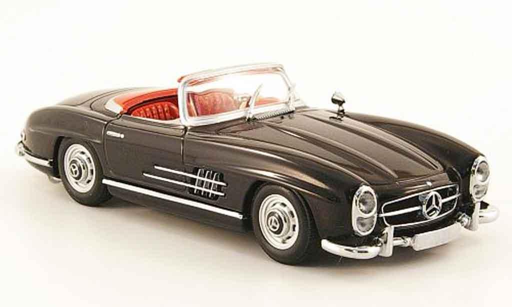 mercedes 300 sl roadster black 1957 minichamps diecast. Black Bedroom Furniture Sets. Home Design Ideas