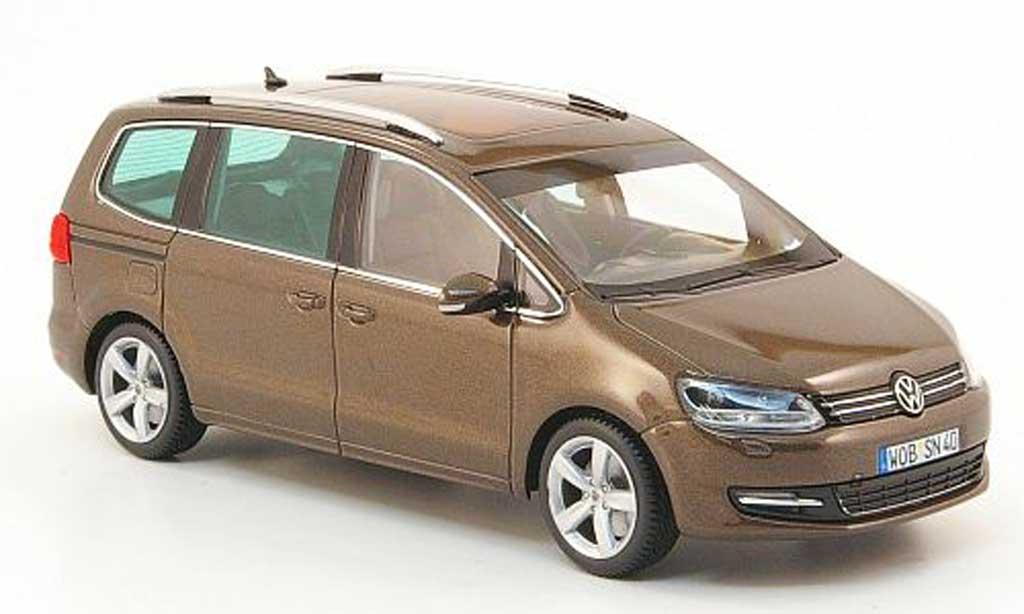 Volkswagen Sharan 1/43 Minichamps marron 2010 miniature