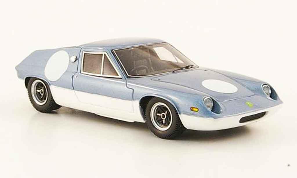 Lotus 47 1/43 Ebbro gt grise metallisee bleu blanche miniature