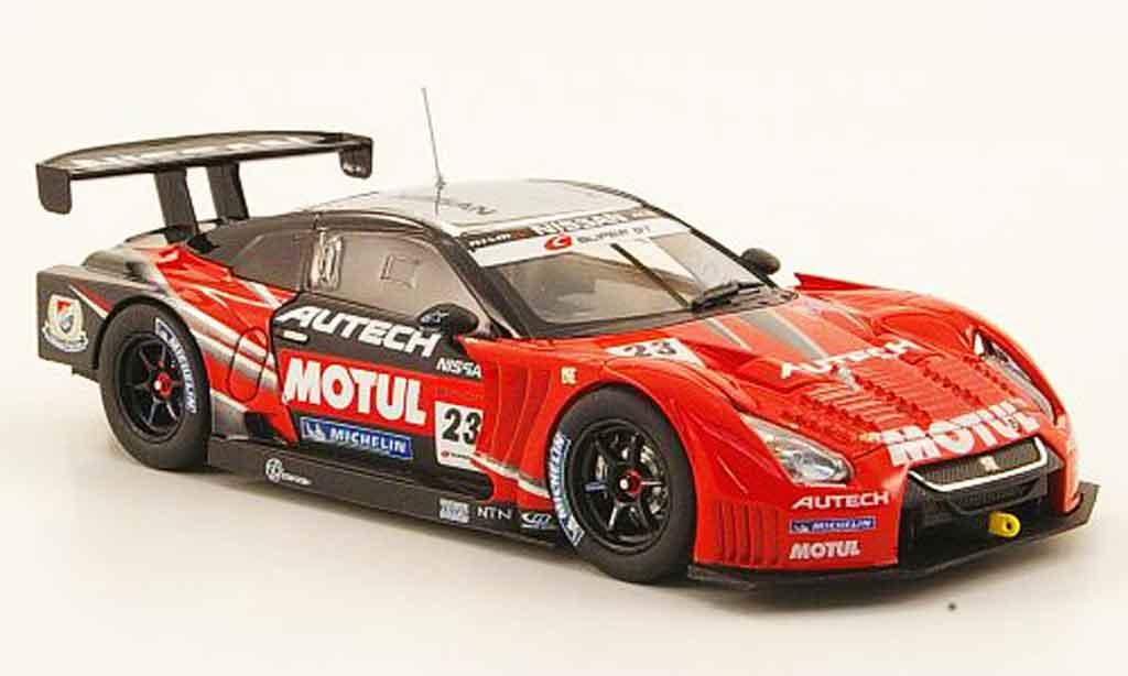 Nissan Skyline R35 1/43 Ebbro JGTC Motul Autech GT R No.23 Test Suzuka SuperGT 2010 miniature
