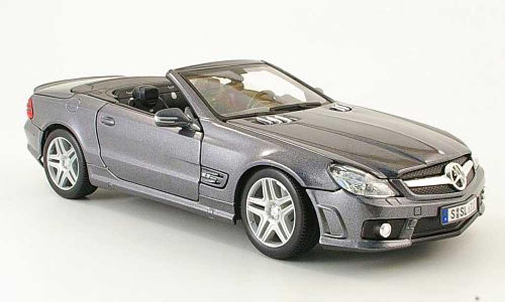 Mercedes Classe SL 63 1/18 Maisto 63 amg grise sondermodell mcw 2009 miniature