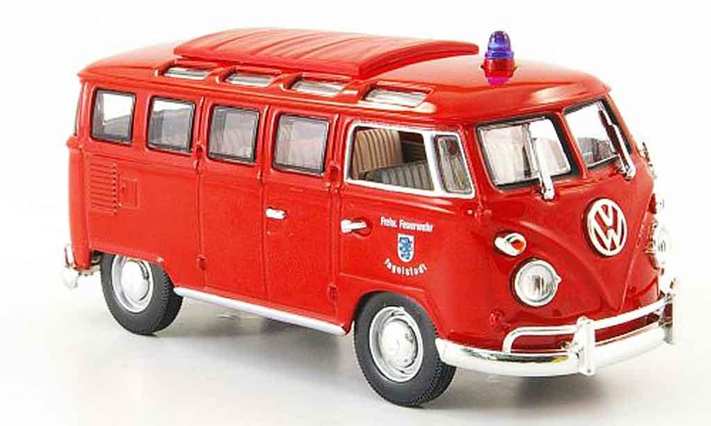 volkswagen combi miniature t1 samba freiwillige pompier ingolstadt yat ming 1 43 voiture. Black Bedroom Furniture Sets. Home Design Ideas