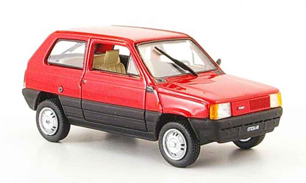 fiat panda miniature rouge 1980 norev 1 43 voiture. Black Bedroom Furniture Sets. Home Design Ideas