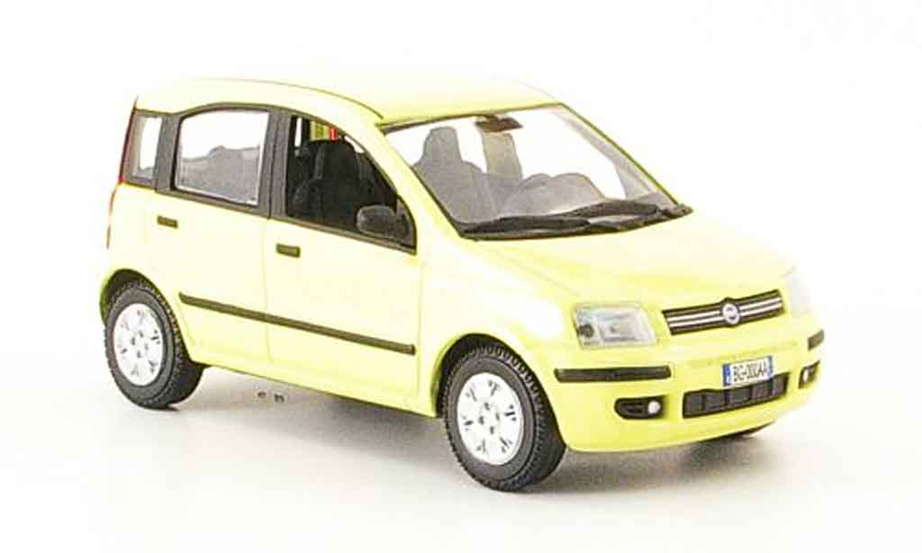 fiat panda miniature nuova jaune 2003 norev 1 43 voiture. Black Bedroom Furniture Sets. Home Design Ideas