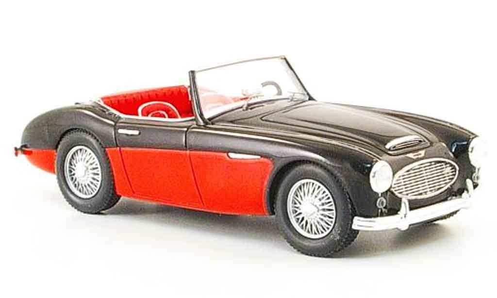 Austin Healey 100/6 1/43 Spark noire rouge 1957 miniature