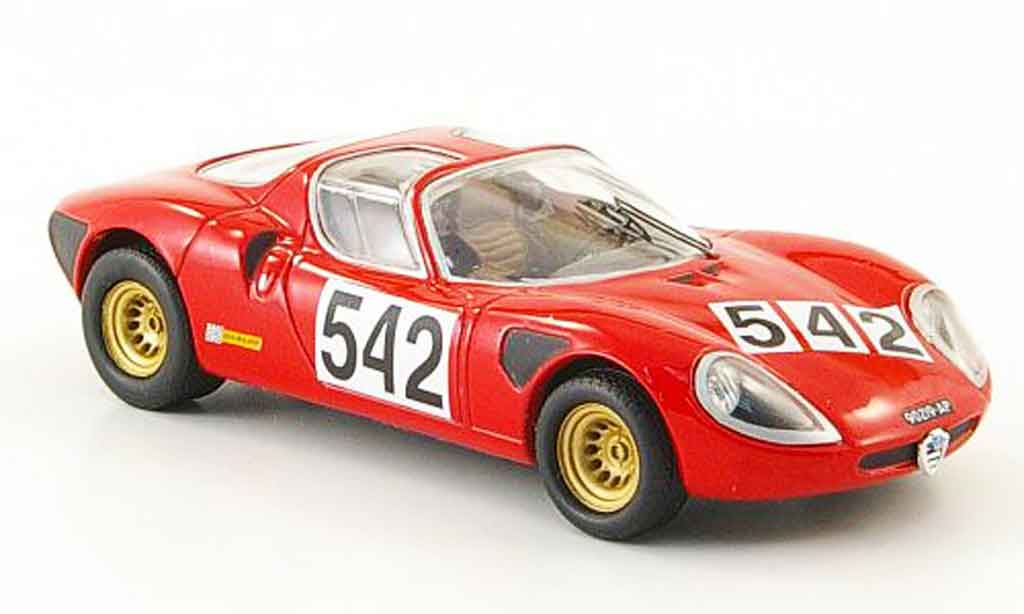 Alfa Romeo 33.2 1968 1/43 M4 stradale no.542 p.laureati cappo carougeti miniature