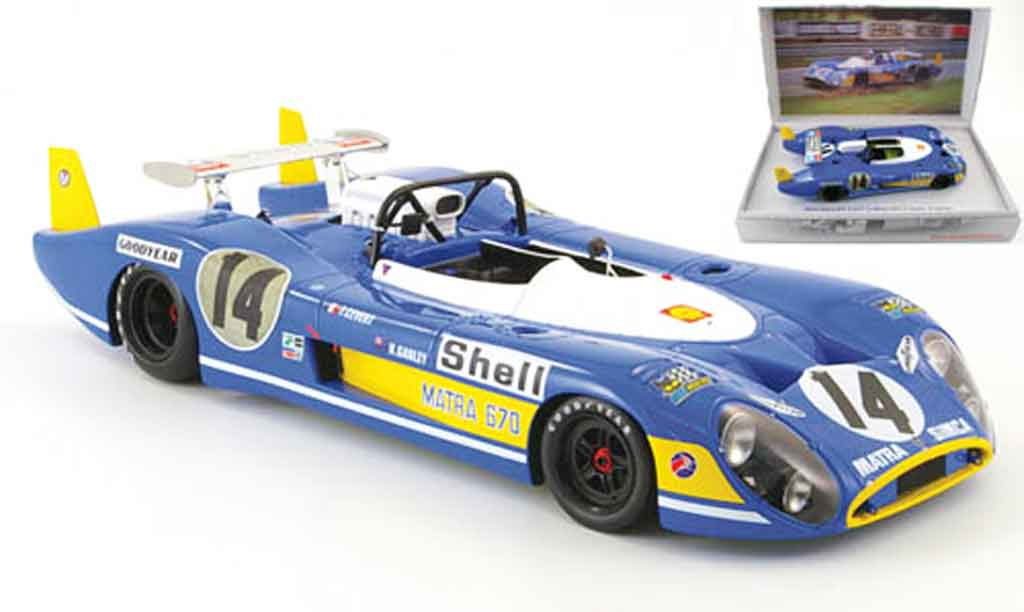 Simca Matra 1/18 Kyosho ms670 no.14 cevert/ganley 24h le mans 1972 diecast model cars