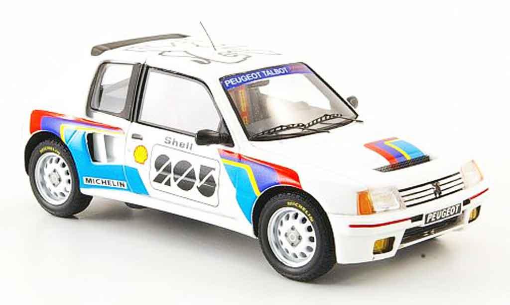 Peugeot 205 Turbo 16 1/43 Spark t16 presentation miniature