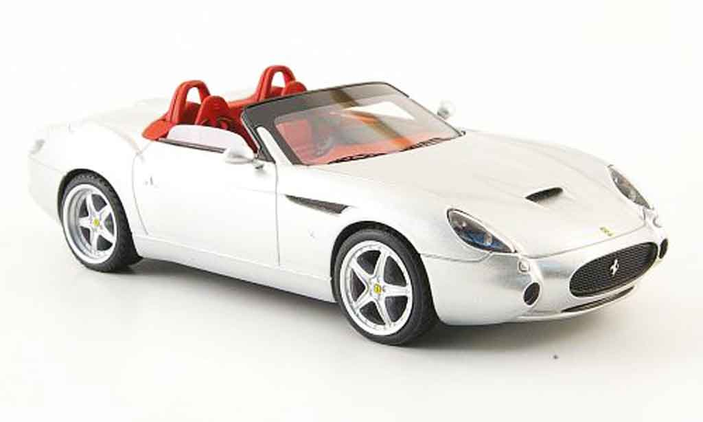 Ferrari 575 GTZ 1/43 Look Smart barchetta grise metallisee miniature