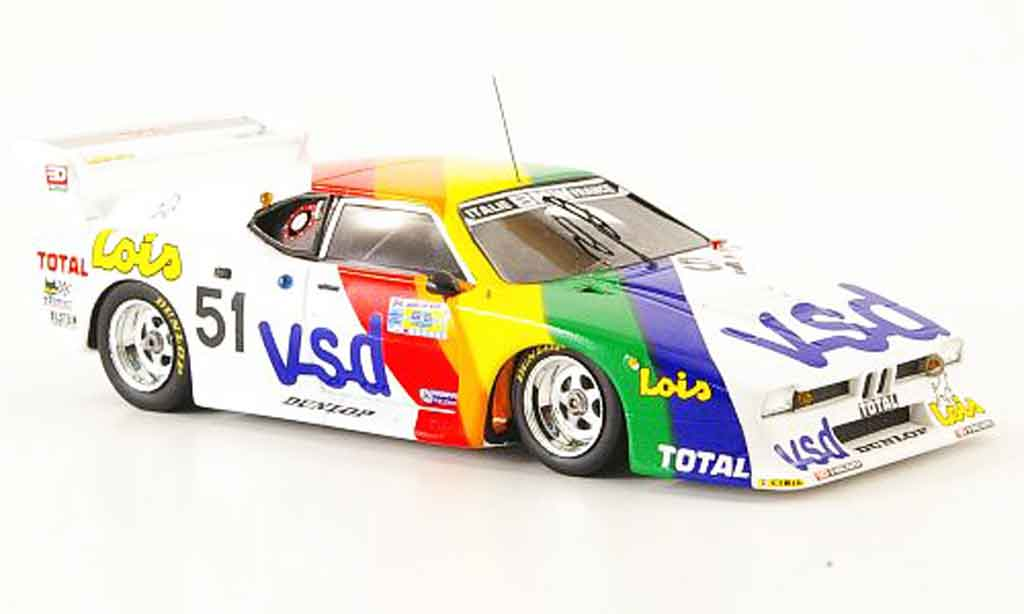 Bmw M1 1981 1/43 Spark No.51 v s d 24h Le Mans diecast model cars